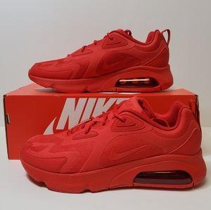 Men's Nike Air Max 200 University Red Triple Shoes